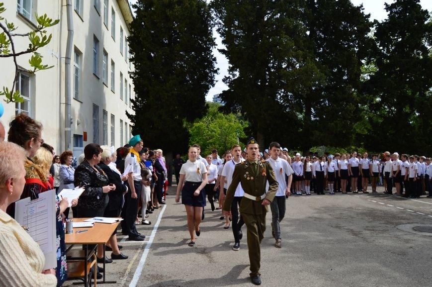 В Кореизской школе в честь празднования 70-летия Великой Победы прошел Парад Победы, фото-1