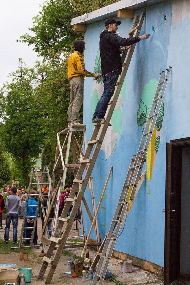 Франківські художники Kickit Art Studio розмалювали школу-інтернат у Бориславі (ФОТО), фото-1