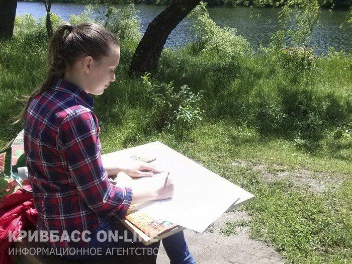 Каким видят парк имени Газеты «Правда» юные криворожские дарования? (ФОТО) (фото) - фото 1