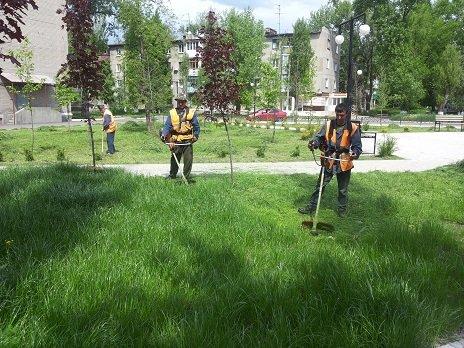Коммунальщики убирают город от мусора и косят траву (ФОТО), фото-3