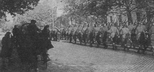 Румыны входят в город