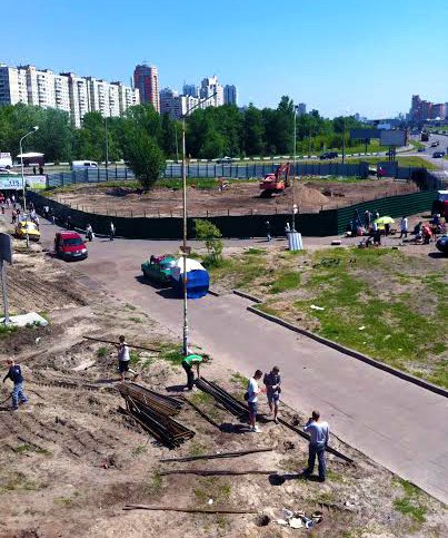 Застройщик начал земляные работы на Осокорках (ФОТО) (фото) - фото 1