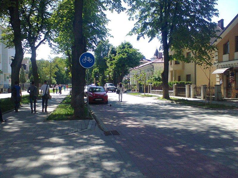 На вулиці Шевченка у Івано-Франківську встановили знаки «Велосипедна доріжка» (ФОТО) (фото) - фото 2