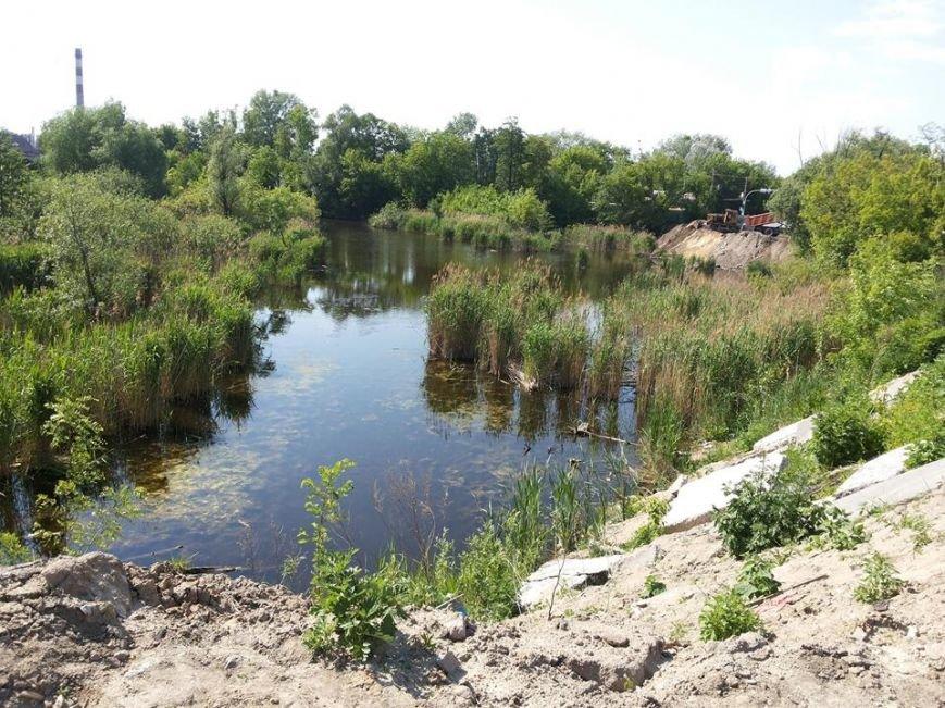 На Позняках застройщик засыпает озеро, - депутат (ФОТОФАКТ) (фото) - фото 1