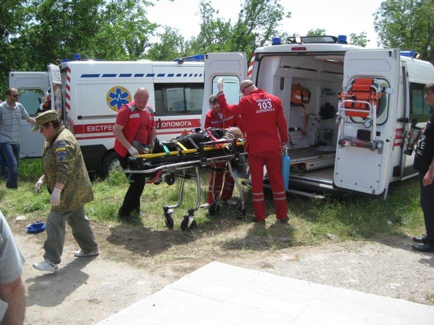 В Скадовске спасатели отрабатывали учебную тревогу (фото) (фото) - фото 4