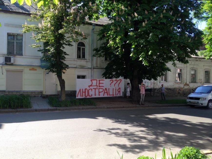 У Полтаві громадські активісти облаштували шибеницю для чиновників з департаменту охорони здоров'я, фото-2