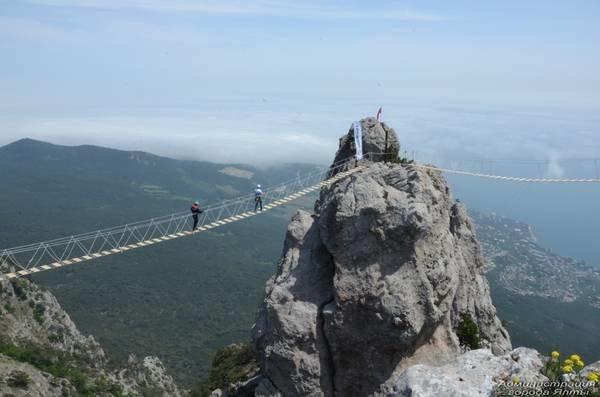 На Ай-Петри теперь можно прогуляться по подвесным мостам на высоте 1200 метров над уровнем моря (ФОТО), фото-8