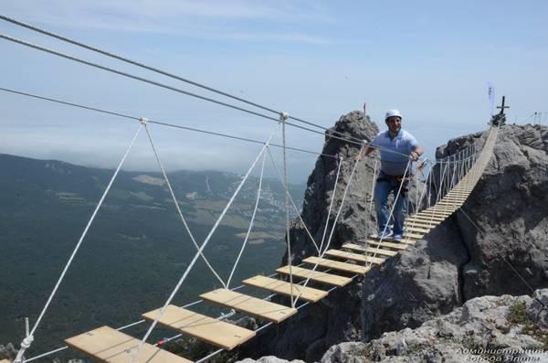 На Ай-Петри теперь можно прогуляться по подвесным мостам на высоте 1200 метров над уровнем моря (ФОТО), фото-6