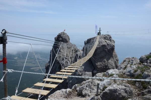На Ай-Петри теперь можно прогуляться по подвесным мостам на высоте 1200 метров над уровнем моря (ФОТО), фото-3