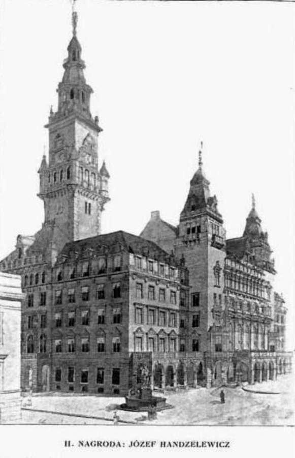 Львівська ратуша якої ми не побачимо. Чотири проекти 1908 року (фото) - фото 2