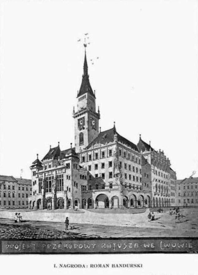 Львівська ратуша якої ми не побачимо. Чотири проекти 1908 року (фото) - фото 3
