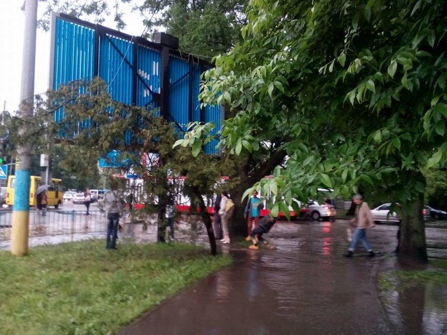 Львовом «прогулялася» гроза: через надмірну кількість опадів у місті затопило дорогу та тротуари (ФОТОРЕПОРТАЖ), фото-10