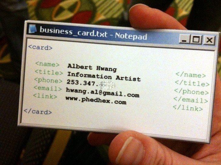 20 оригинальных визиток, которые сделали своих владельцев узнаваемыми (фото) - фото 9
