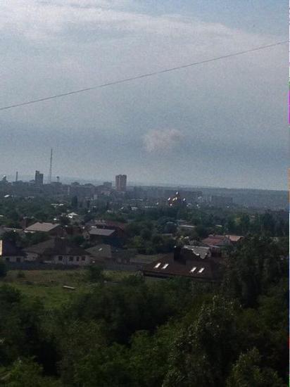 В Луганске что-то взорвалось - со стороны Александровки столб белого дыма (ФОТО), фото-1