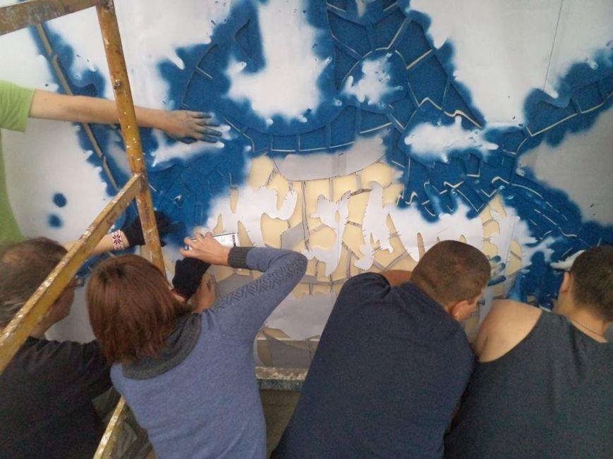 Граффити с изображением Тараса Шевченко планируется закончить сегодня (ФОТО), фото-7