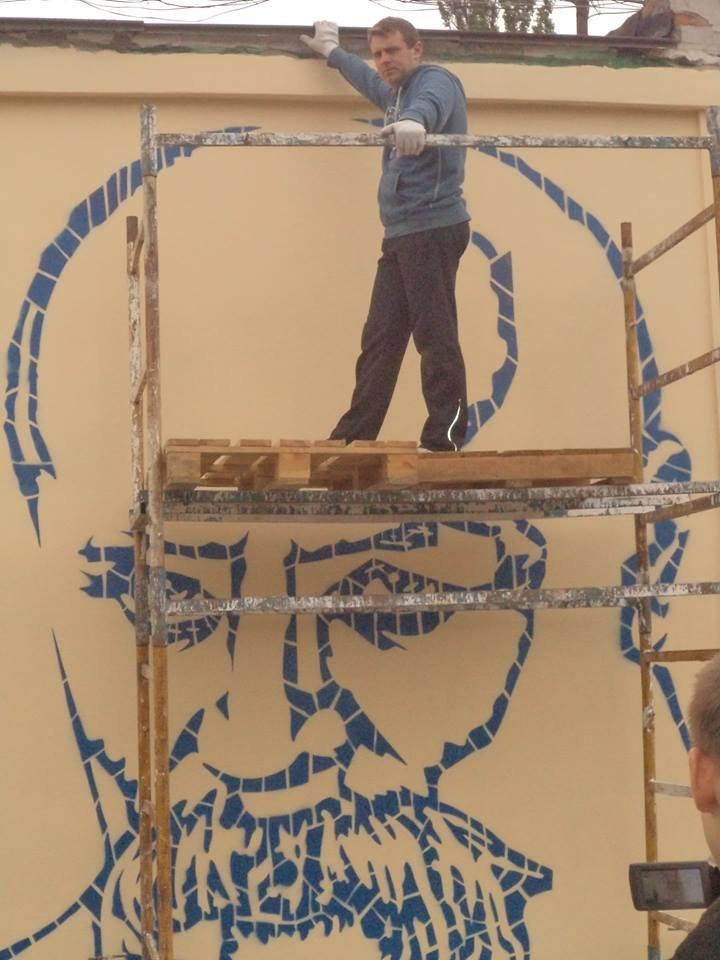 Граффити с изображением Тараса Шевченко планируется закончить сегодня (ФОТО), фото-5