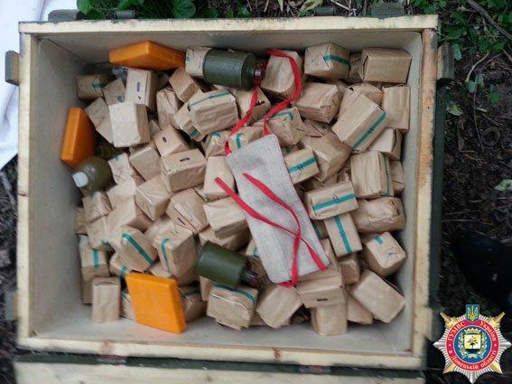 В пос. Мироновский (Артемовский район) найден тайник с оружием и боеприпасами (фото) - фото 2