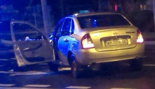 В Донецке пьяные боевики врезались в такси - водитель погиб (фото) - фото 1