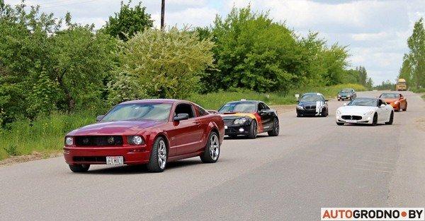 Фоторепортаж: самые редкие и мощные автомобили Гродно собрали в одном месте для съемок ролика (фото) - фото 22