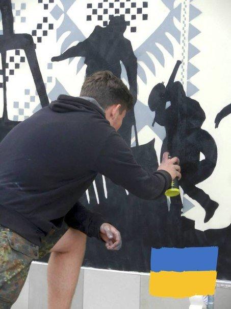 Граффити с изображением Тараса Шевченко закончено и торжественно открыто (ФОТО), фото-6