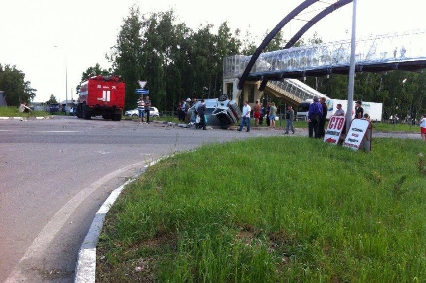 В Белгородской области столкнулись легковушка и мотоцикл, есть погибшие (фото) - фото 1