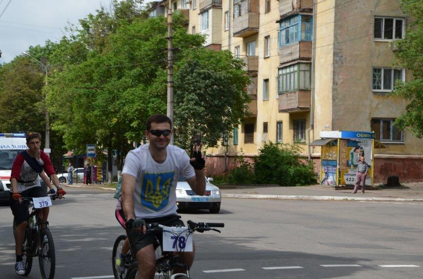 В Мариуполе велосипедисты создали живой флаг Украины (ФОТОРЕПОРТАЖ), фото-62
