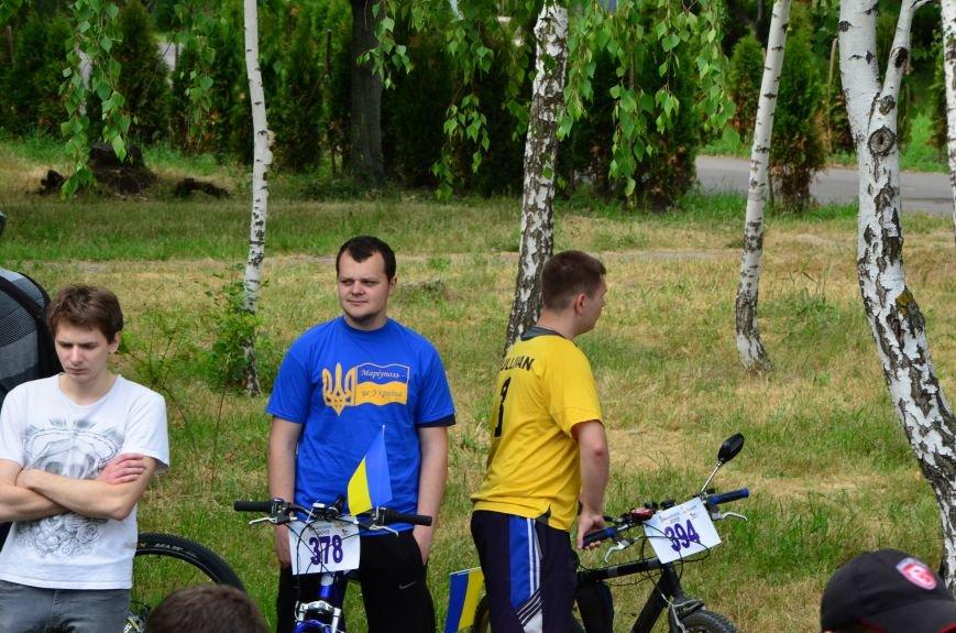 В Мариуполе велосипедисты создали живой флаг Украины (ФОТОРЕПОРТАЖ), фото-9