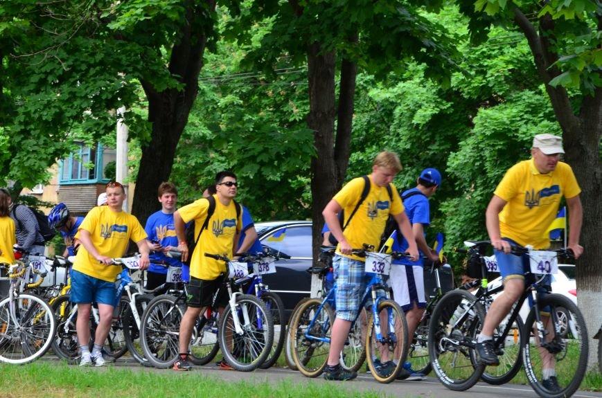 В Мариуполе велосипедисты создали живой флаг Украины (ФОТОРЕПОРТАЖ), фото-22