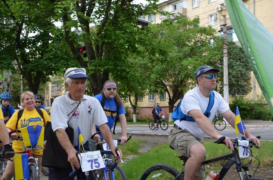 В Мариуполе велосипедисты создали живой флаг Украины (ФОТОРЕПОРТАЖ), фото-30