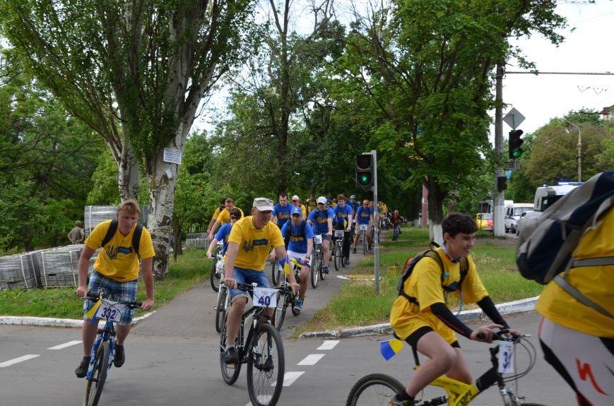 В Мариуполе велосипедисты создали живой флаг Украины (ФОТОРЕПОРТАЖ), фото-38