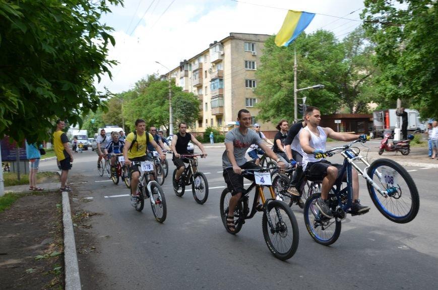 В Мариуполе велосипедисты создали живой флаг Украины (ФОТОРЕПОРТАЖ), фото-64