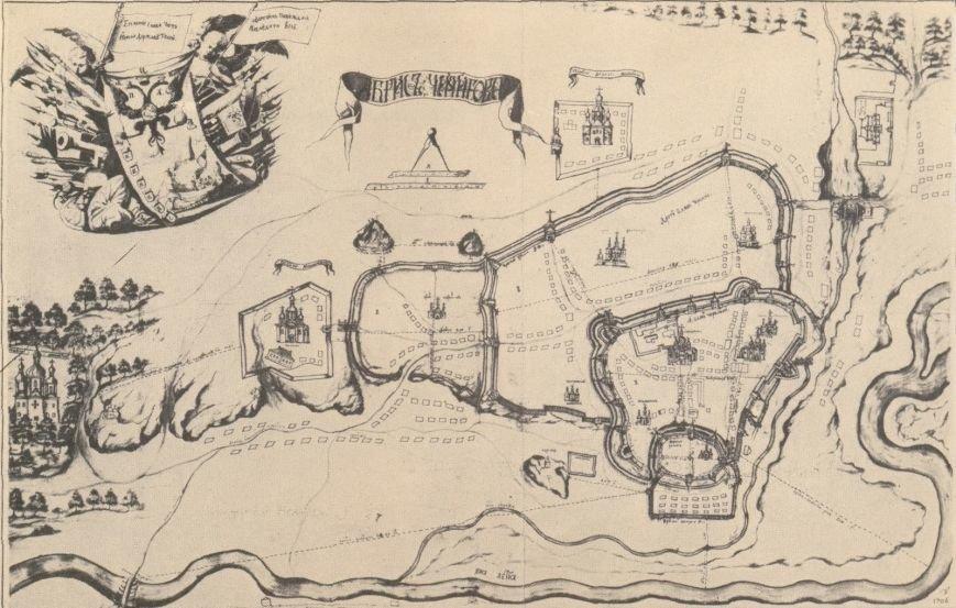 План города 1706 год
