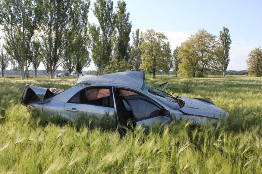 Смертельная авария под Запорожьем: «Мазда» на огромной скорости вылетела в кювет (ФОТО), фото-1