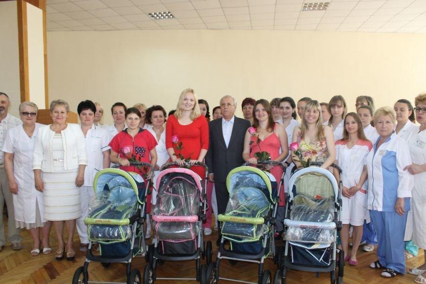 Городской голова Юрий Вилкул поздравил мам, родивших деток в День города  (ФОТО), фото-13