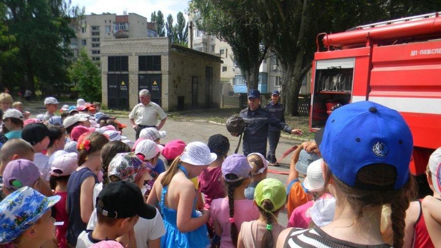 Каховские спасатели проводят разъяснительную работу среди детей в пришкольных лагерях (фото) - фото 2