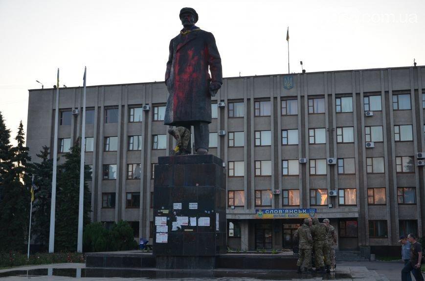 В Славянске культурно сняли Ленина(фото, видео) (фото) - фото 2