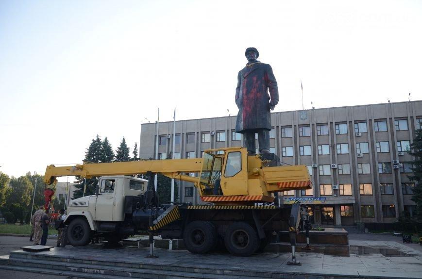 В Славянске культурно сняли Ленина(фото, видео) (фото) - фото 3