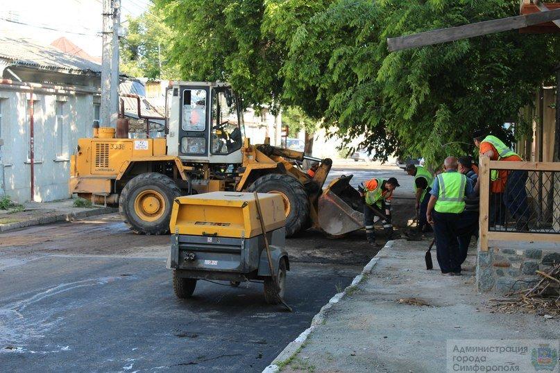 В Симферополе ремонтируют улицу Сергеева-Ценского (ФОТОФАКТ) (фото) - фото 4