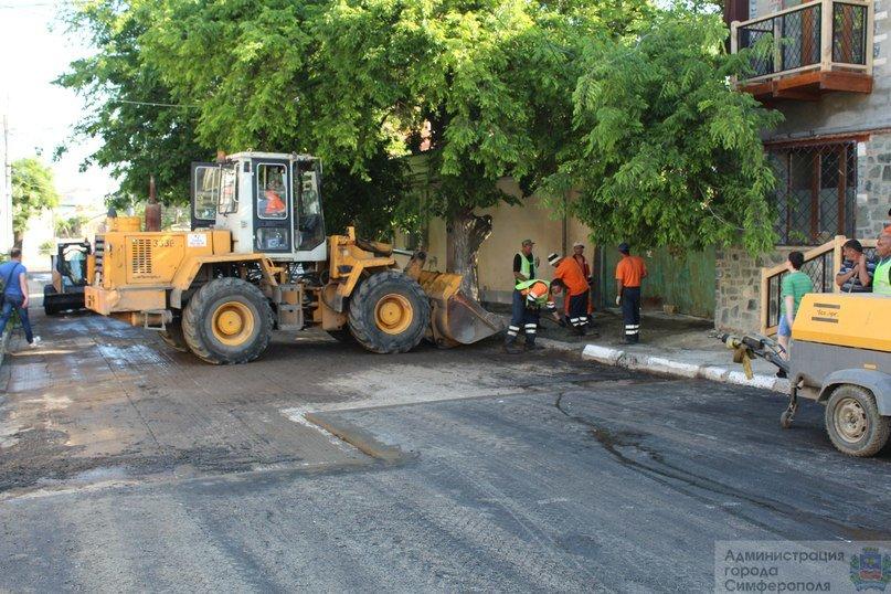 В Симферополе ремонтируют улицу Сергеева-Ценского (ФОТОФАКТ) (фото) - фото 3