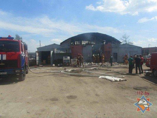 В Гродно на участке розлива химпродукции произошел пожар (фото) - фото 1