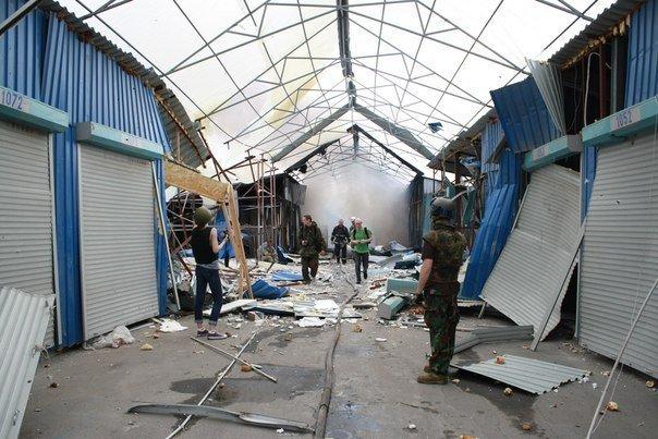 Донецкий рынок «Сокол» превратился в руины. Горел автовокзал «Западный» (фото) (фото) - фото 2