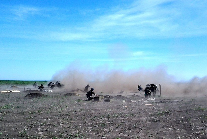 Гвардейцы под Мариуполем учились метко стрелять в боевиков (ФОТО) (фото) - фото 1