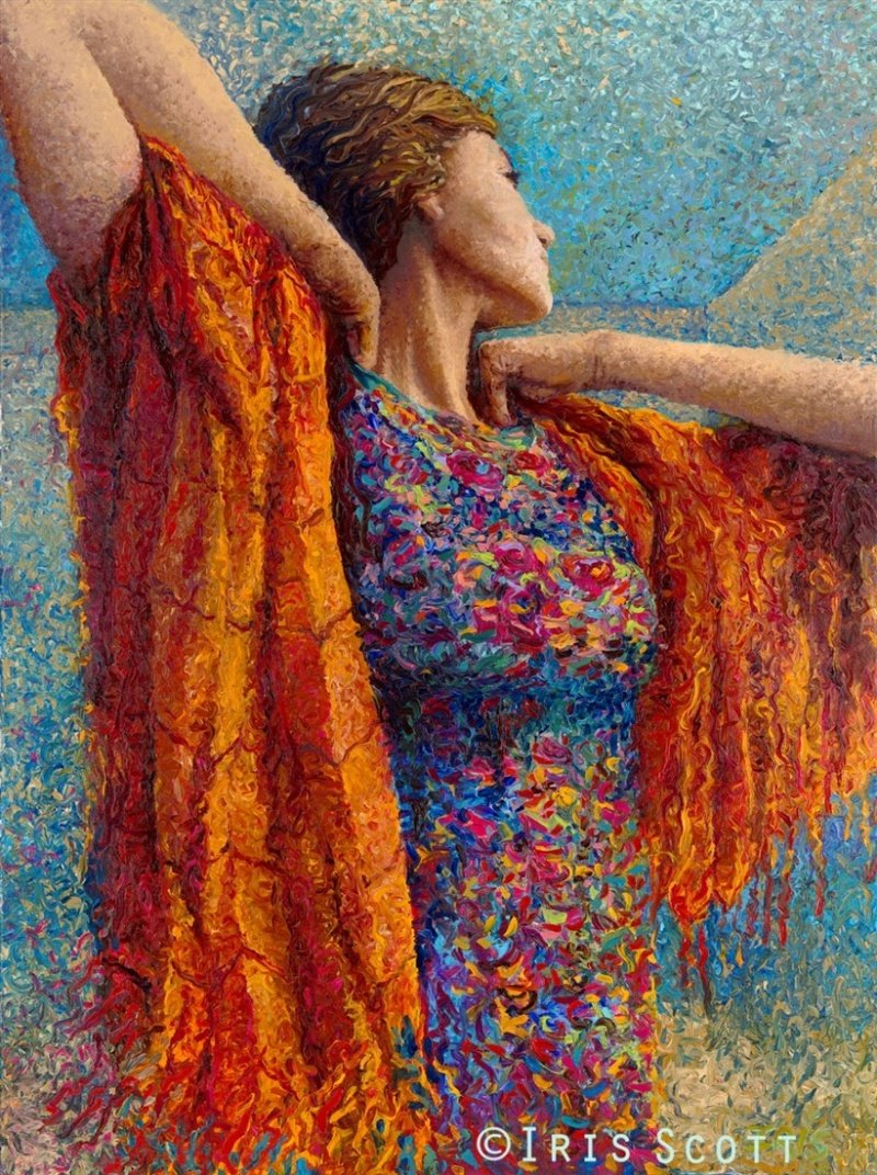 16821810-R3L8T8D-800-01-Miss-Gibbons-and-the-Scarf-Iris-Scott-Finger-Painting-Fine-Art-www-designstack-co