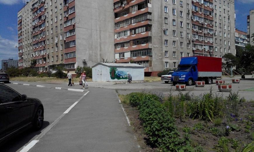 Запорожская пенсионерка превращает скучные гаражи в яркие полотна (ФОТО) (фото) - фото 1