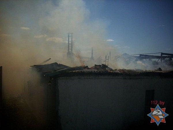 В Лиде произошел пожар на предприятии по изготовлению гробов и венков (фото) - фото 4