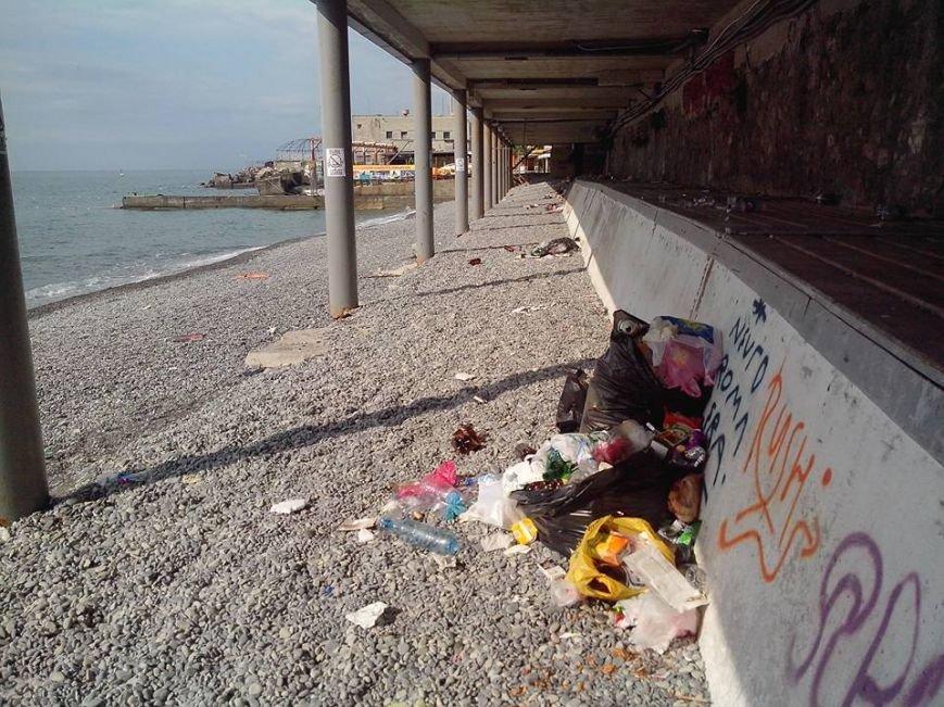 Крымские пляжи утопают в мусоре. Власти республики получают массу жалоб от жителей и гостей полуострова (ФОТО), фото-4
