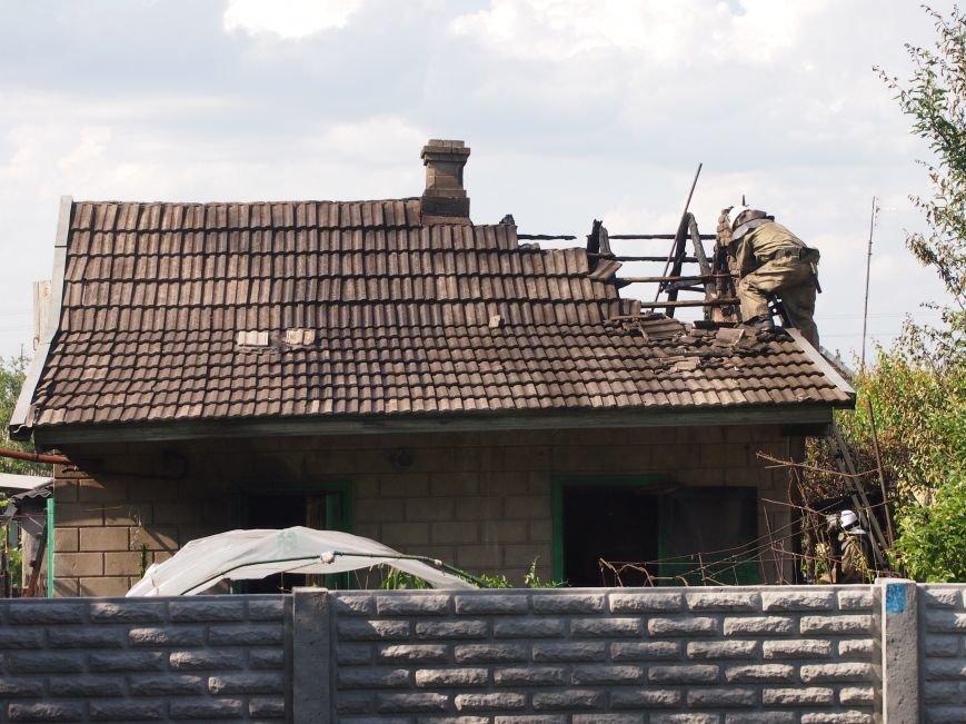 В Днепродзержинске во дворе частного дома случился пожар (фото) - фото 5
