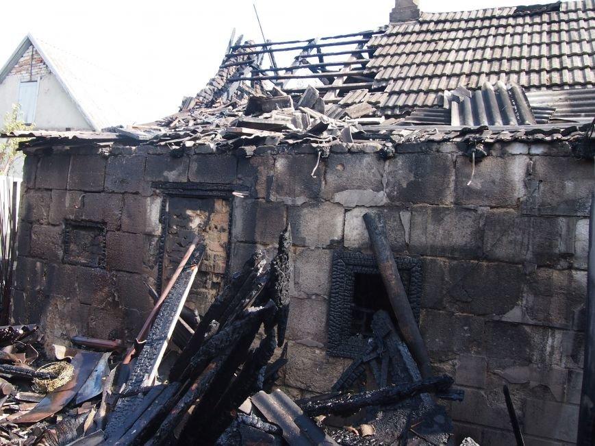 В Днепродзержинске во дворе частного дома случился пожар (фото) - фото 7