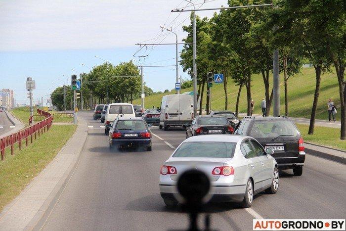 Фоторепортаж: водителей Гродно проверяли насколько быстро они уступают дорогу пожарным машинам (фото) - фото 11