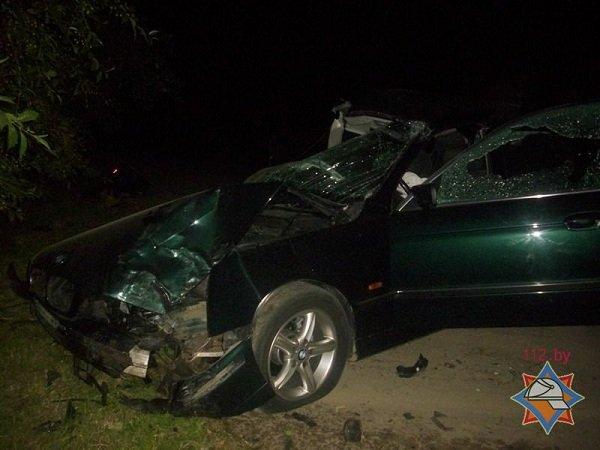 В Лиде пассажира автомобиля зажало в салоне после удара о дерево (фото) - фото 4